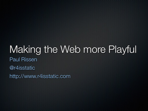 Making the Web More Playful