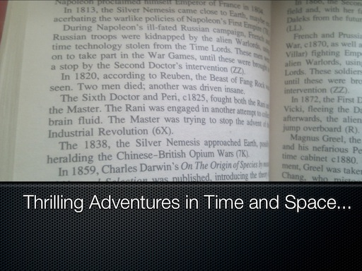 Thrilling Adventures in Time and Space