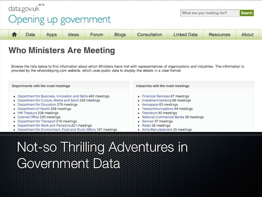Not So Thrilling Adventures in Government Data